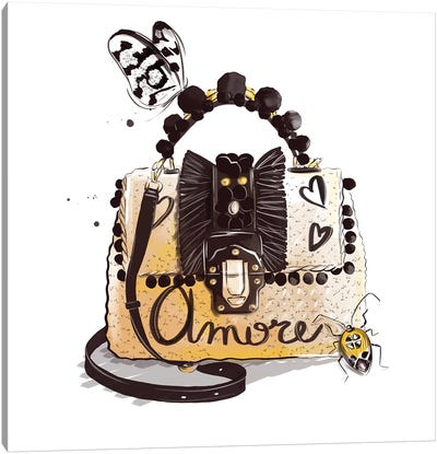 Amore Bag Canvas Art Print