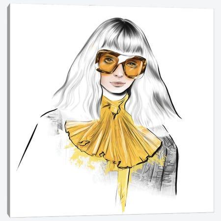 Yellow Look Canvas Print #AGS39} by Agata Sadrak Canvas Artwork