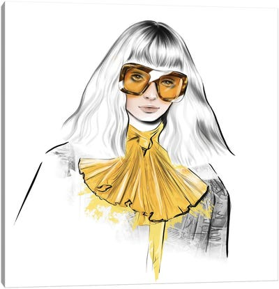 Yellow Look Canvas Art Print