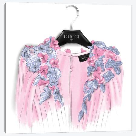 Gucci Dress Canvas Print #AGS4} by Agata Sadrak Canvas Wall Art