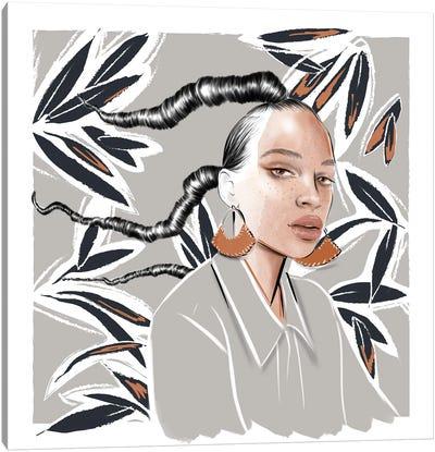 Girl With Earrings Canvas Art Print