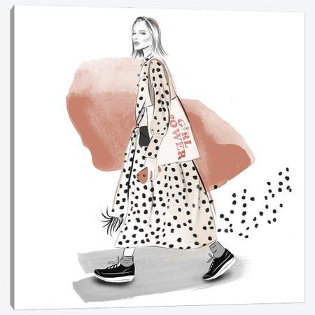 Lost Of Dots Canvas Print #AGS7} by Agata Sadrak Canvas Art