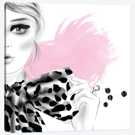 Bow Canvas Print #AGS8} by Agata Sadrak Art Print