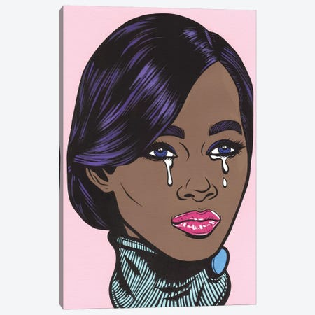 Black Model Crying Girl Canvas Print #AGU101} by Allyson Gutchell Canvas Artwork