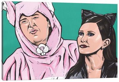 Chandler and Monica Halloween Canvas Art Print