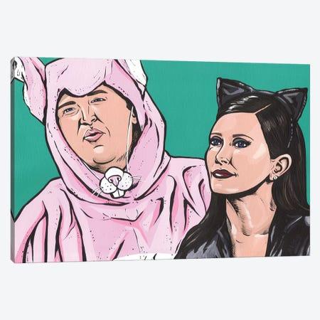 Chandler and Monica Halloween Canvas Print #AGU105} by Allyson Gutchell Canvas Print