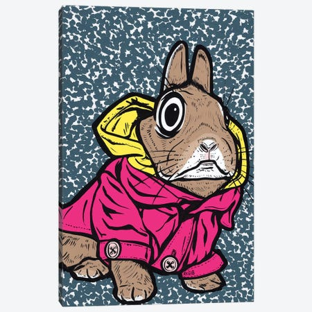 Bunny Hoodie Canvas Print #AGU115} by Allyson Gutchell Canvas Artwork