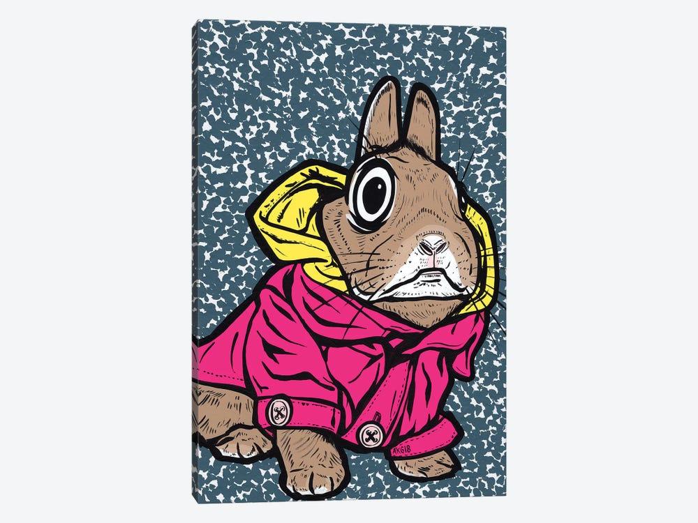 Bunny Hoodie by Allyson Gutchell 1-piece Canvas Wall Art