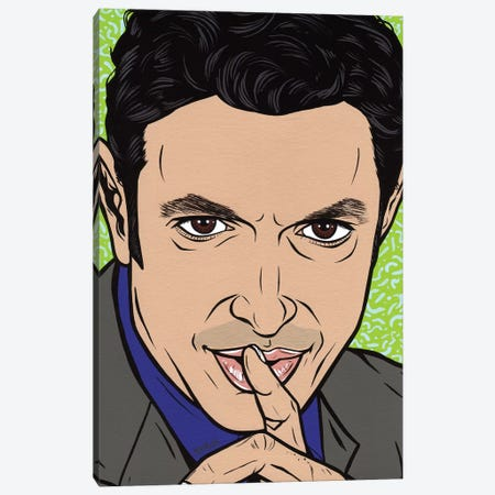 Jeff Goldblum Canvas Print #AGU118} by Allyson Gutchell Art Print