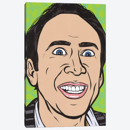 Nic Cage Canvas Print #AGU120} by Allyson Gutchell Canvas Art