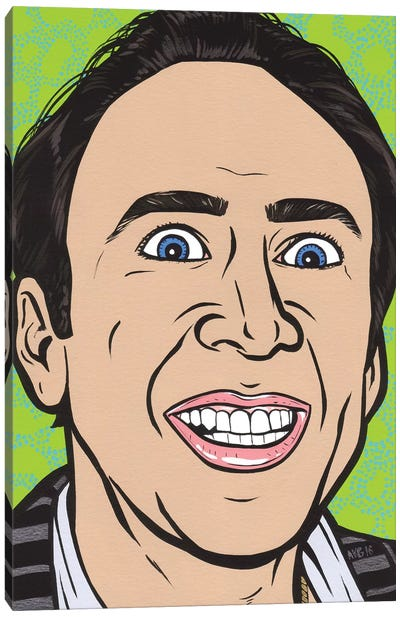Nic Cage Canvas Art Print