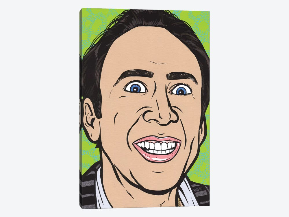 Nic Cage by Allyson Gutchell 1-piece Canvas Art