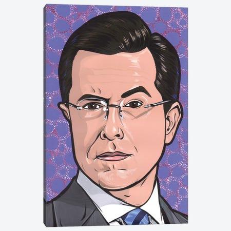 Stephen Colbert Canvas Print #AGU122} by Allyson Gutchell Canvas Wall Art