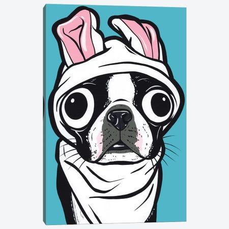 Boston Terrier Bunny Canvas Print #AGU128} by Allyson Gutchell Canvas Art