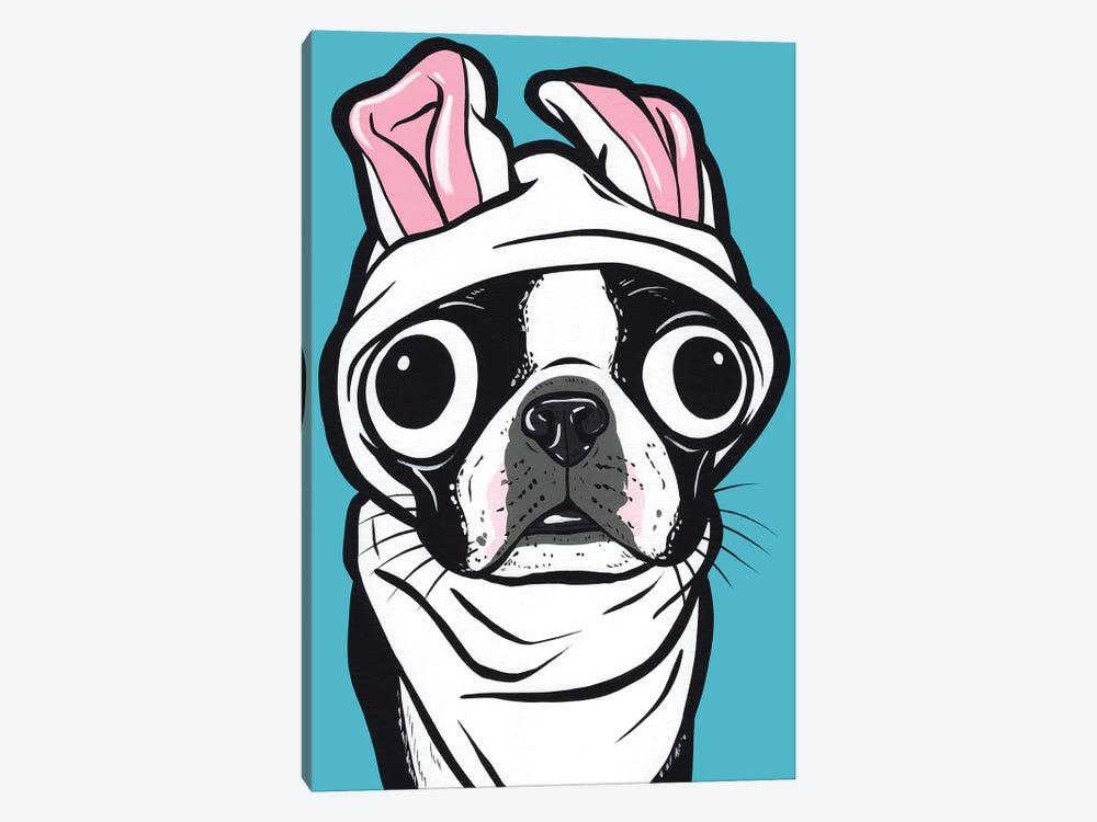 Boston Terrier Bunny by Allyson Gutchell 1-piece Canvas Wall Art