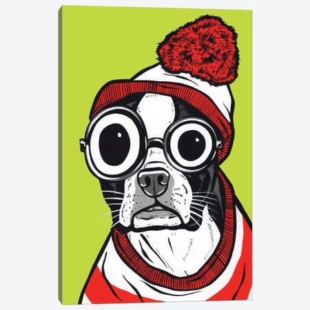 Boston Terrier Waldo Canvas Print #AGU129} by Allyson Gutchell Canvas Artwork