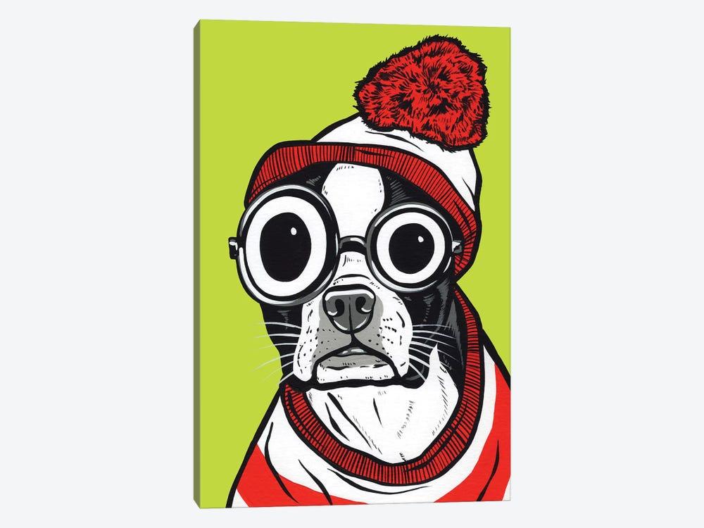 Boston Terrier Waldo by Allyson Gutchell 1-piece Art Print