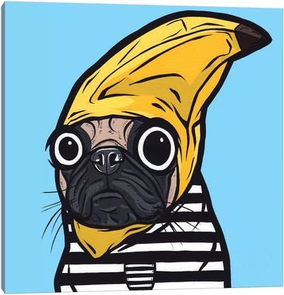 Banana Pug Canvas Art Print