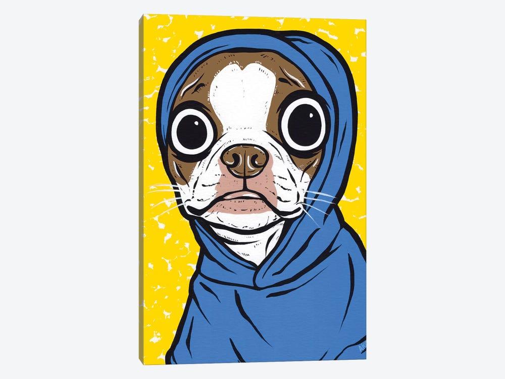 Brown Boston Terrier Hoodie by Allyson Gutchell 1-piece Canvas Art