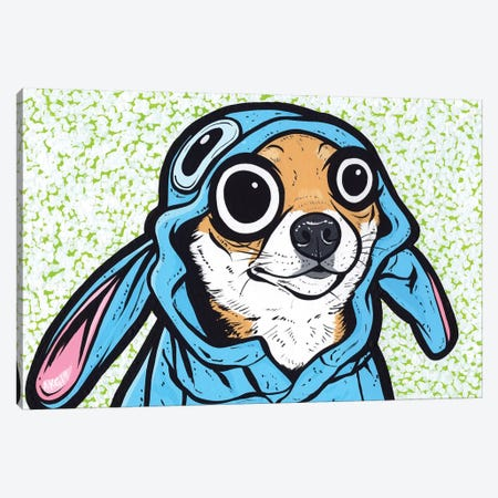 Shiba Inu Puppy Canvas Print #AGU142} by Allyson Gutchell Canvas Wall Art