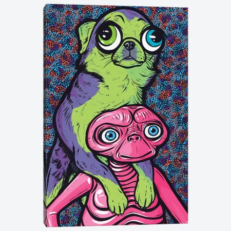 Chihuahua Friends Canvas Print #AGU151} by Allyson Gutchell Art Print