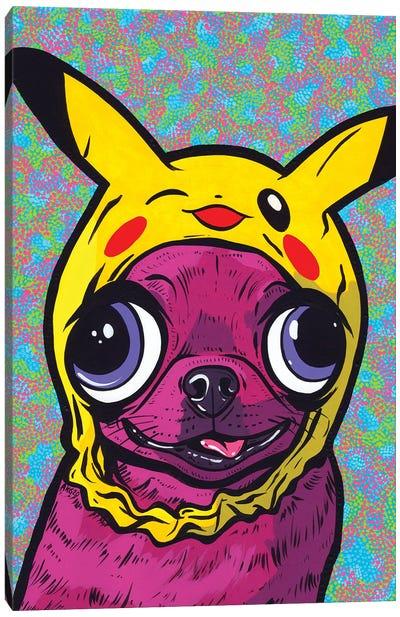 Purple Chihuahua Canvas Art Print