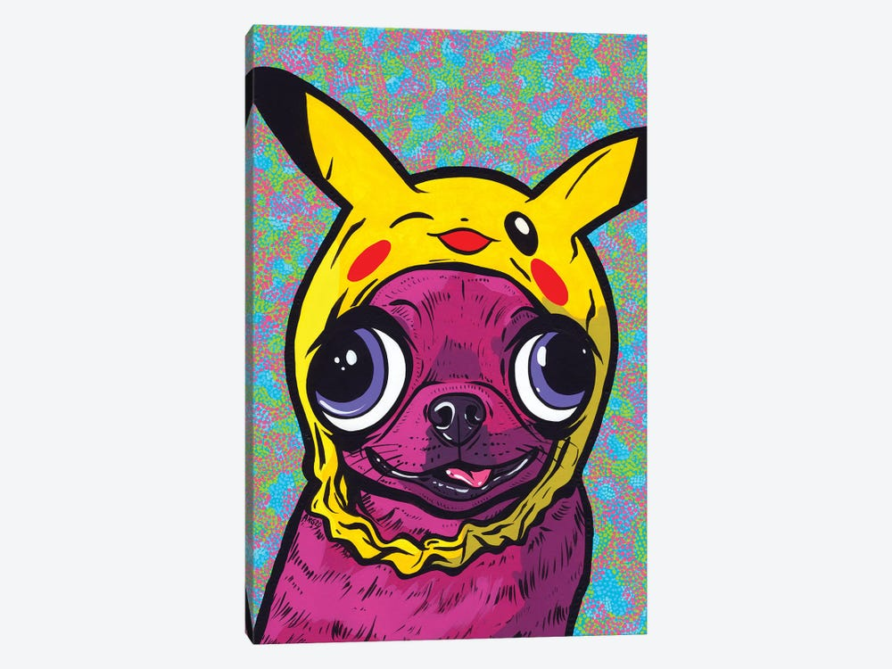 Purple Chihuahua by Allyson Gutchell 1-piece Canvas Art
