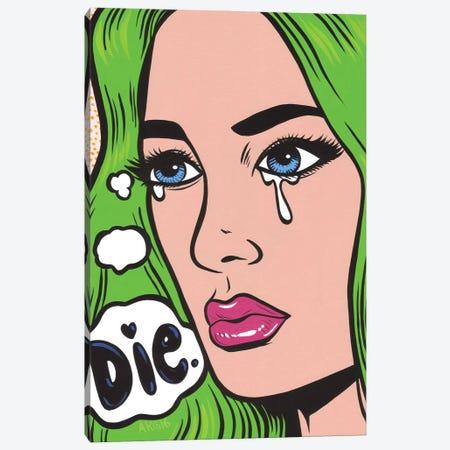 Die Crying Comic Girl Canvas Print #AGU160} by Allyson Gutchell Canvas Wall Art
