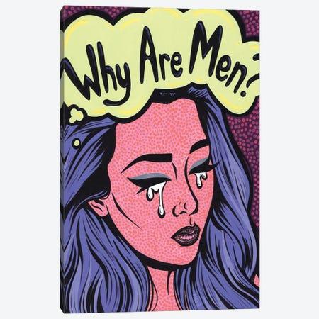 Why Are Men? Crying Girl Canvas Print #AGU166} by Allyson Gutchell Canvas Art Print