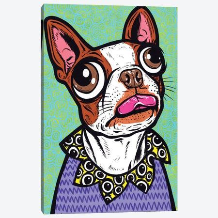 Brown Boston Terrier Tongue Canvas Print #AGU168} by Allyson Gutchell Canvas Artwork