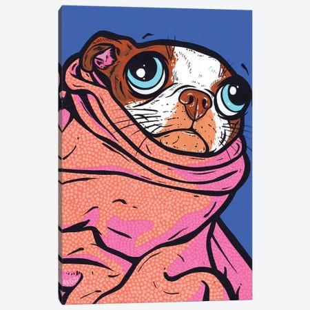Boston Terrier Blanket Canvas Print #AGU171} by Allyson Gutchell Canvas Art Print