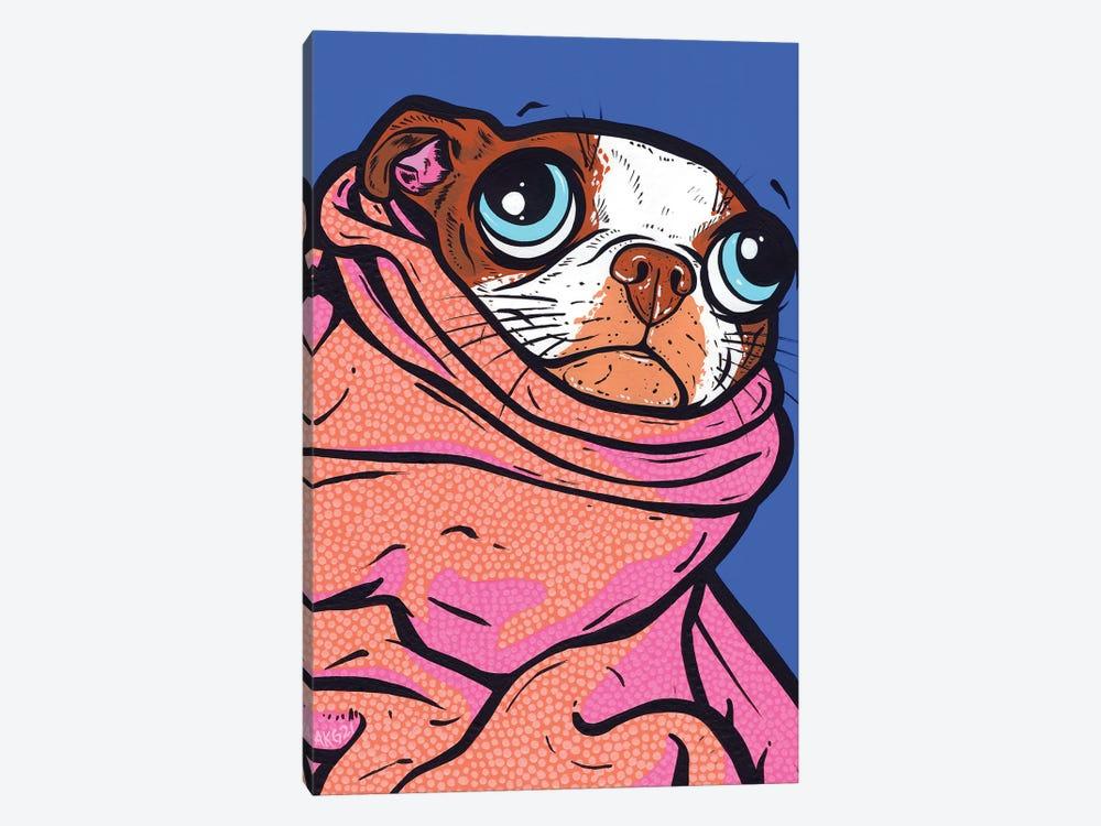 Boston Terrier Blanket by Allyson Gutchell 1-piece Canvas Artwork