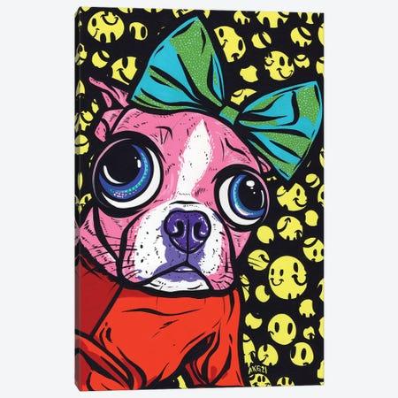 Smiley Boston Terrier Canvas Print #AGU173} by Allyson Gutchell Canvas Art Print