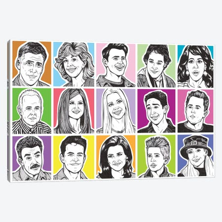 Friends Canvas Print #AGU25} by Allyson Gutchell Canvas Wall Art