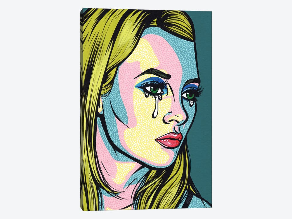 Kate Crying Comic Girl by Allyson Gutchell 1-piece Canvas Artwork