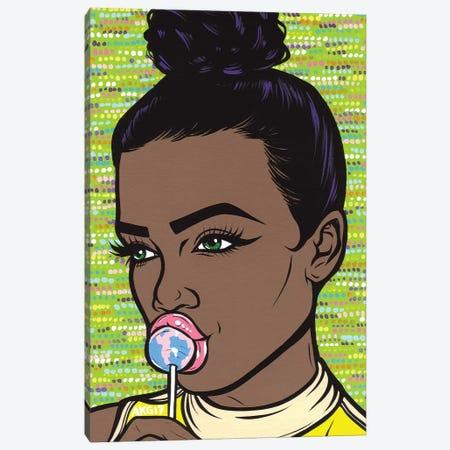 Lollipop Girl 3-Piece Canvas #AGU38} by Allyson Gutchell Canvas Art