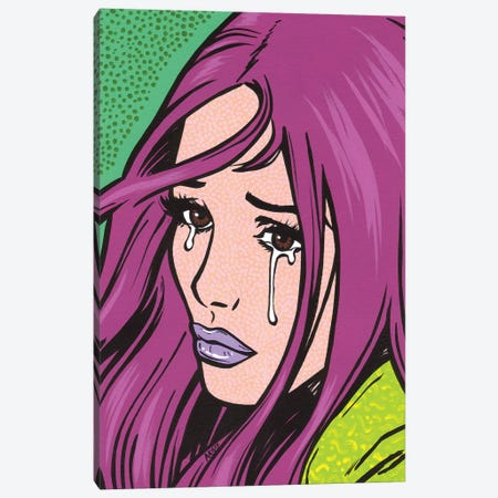 Magenta Crying Girl Canvas Print #AGU41} by Allyson Gutchell Canvas Art Print