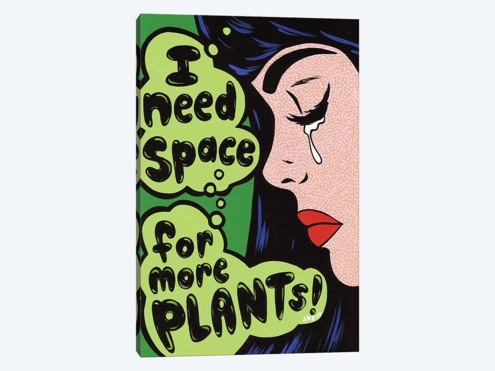 More Plants! Comic Girl by Allyson Gutchell 1-piece Canvas Art Print