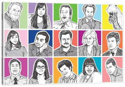 Parks And Rec Canvas Art Print
