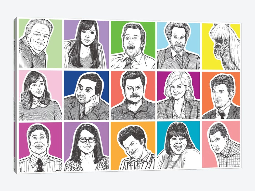 Parks And Rec by Allyson Gutchell 1-piece Art Print