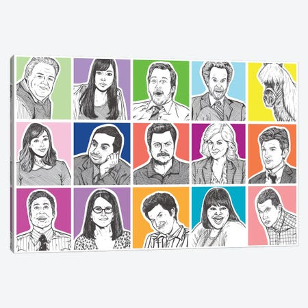 Parks And Rec Canvas Print #AGU46} by Allyson Gutchell Canvas Artwork