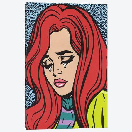 Red Head Crying Girl Canvas Print #AGU60} by Allyson Gutchell Art Print