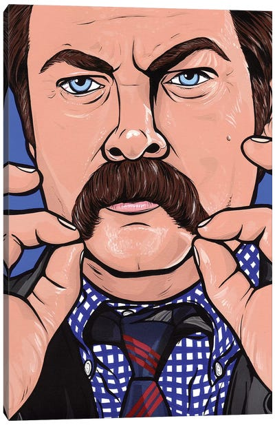 Ron Swanson Canvas Art Print