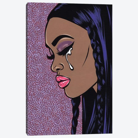 Sad Comic Girl I 3-Piece Canvas #AGU63} by Allyson Gutchell Canvas Art Print