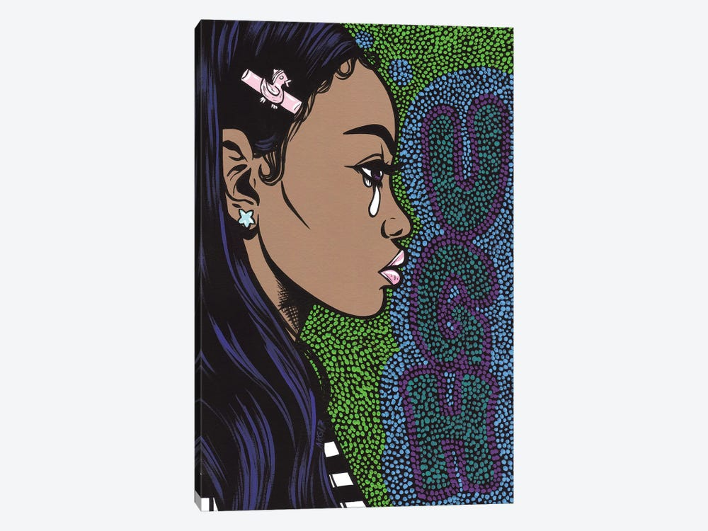 Ugh Crying Girl by Allyson Gutchell 1-piece Art Print