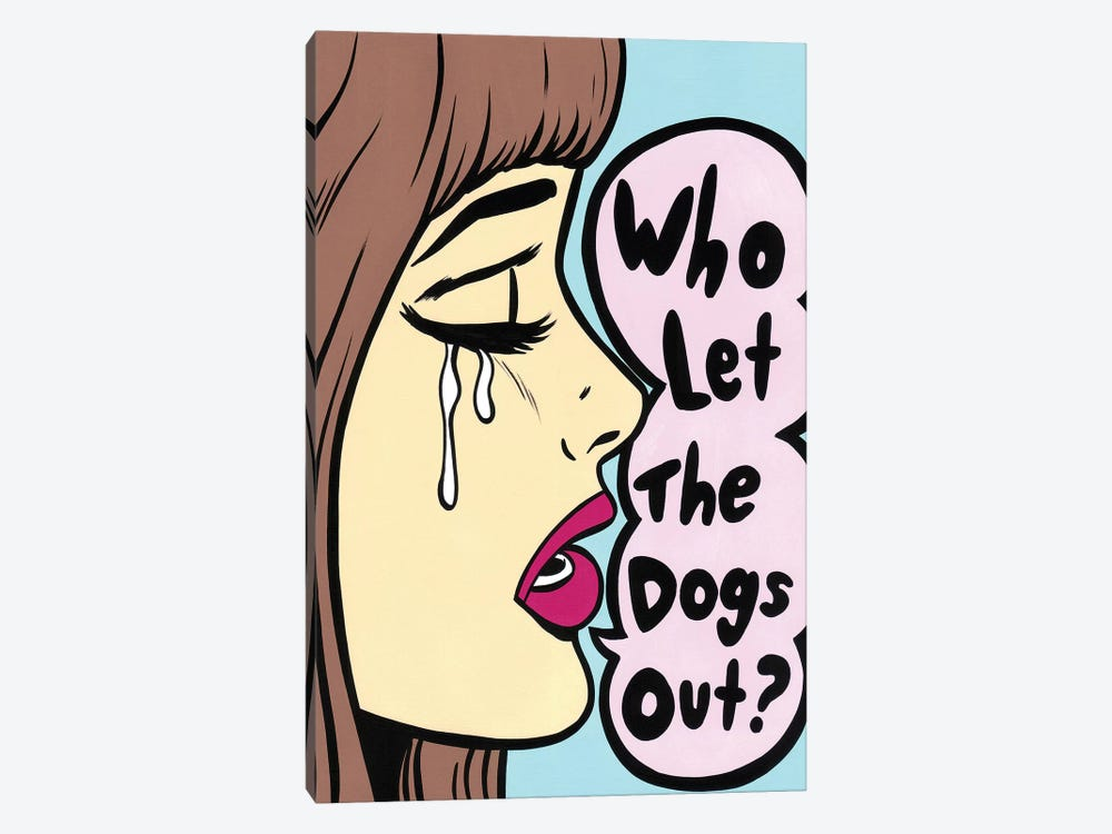 Who Let The Dogs Out by Allyson Gutchell 1-piece Canvas Print