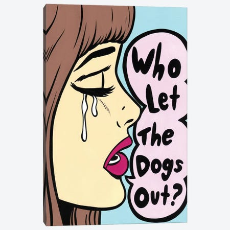 Who Let The Dogs Out 3-Piece Canvas #AGU80} by Allyson Gutchell Canvas Art Print