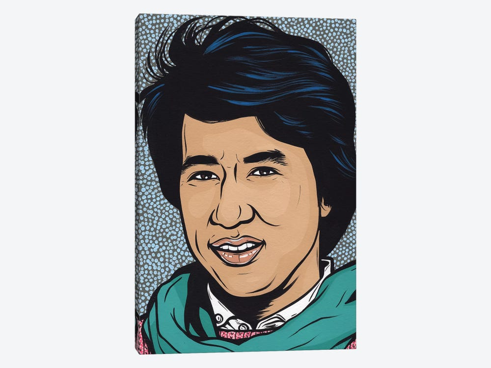 Young Jackie Chan by Allyson Gutchell 1-piece Canvas Art Print