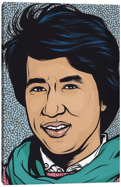 Young Jackie Chan Canvas Art Print