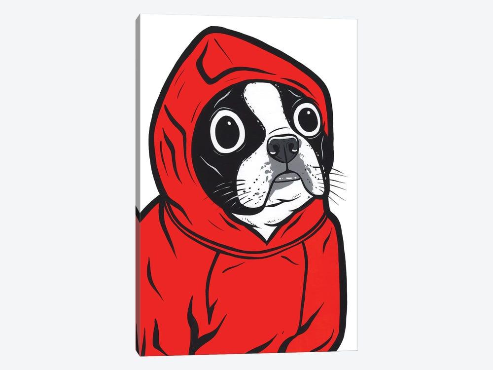 Boston Terrier Hoodie by Allyson Gutchell 1-piece Canvas Art